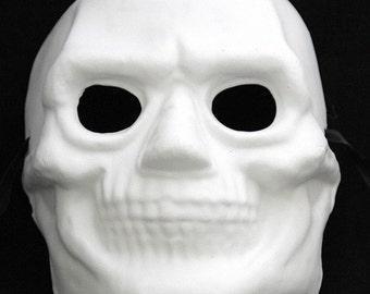 Paintable Skeleton Reaper Mask