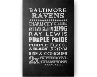 Baltimore Ravens Chalkboard Digital Download