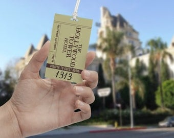 The Hollywood Tower Hotel (Room 1313) - Novelty Luggage Tag