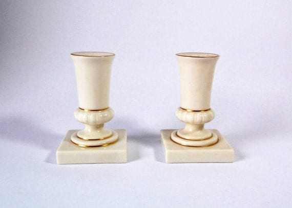 Vintage lenox ivory candle holders no made in usa