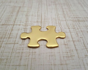 Nu Gold Puzzle Piece Stamping Blanks - 18 Gauge Nu Gold Blanks