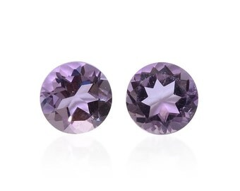 Pink Amethyst Round Cut Set of 2 Loose Gemstones 1A Quality 5mm TGW 0.70 cts.