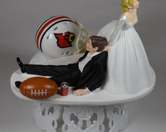 wedding cake toppers louisville ky cardinals wedding cake toppers etsy 26527