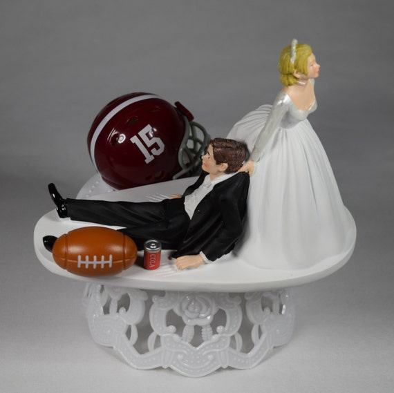 alabama football wedding cake toppers wedding cake topper alabama crimson by creationsbydhyani 10645