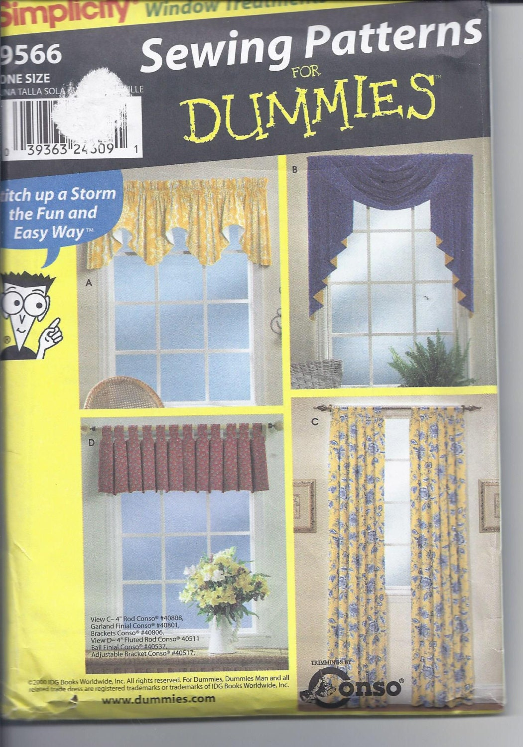 Simplicity Pattern 9566 Sewing For Dummies Window