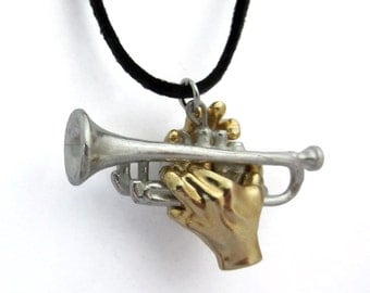 Trumpet Pendant with Hands