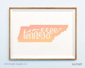 Tennessee print - Tennessee art - Tennessee poster - Tennessee wall art