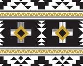 Four Corners by Simple Simon & Co for Riley Blake Fabrics, Black Main | Fat Quarter, Half Yard, Yardage