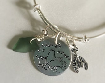 There's No Place Like Home... Maine sea glass bracelet