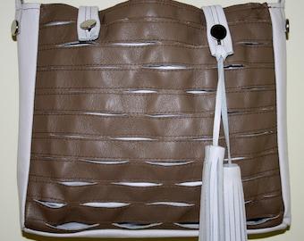 """Leather """"rugged"""" shoulder bag"""