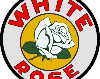 RG1991 White Rose Gas Station And Motor Oil Sign (Reproduction)