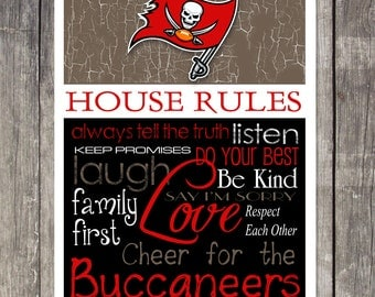 TAMPA BAY BUCCANEERS House Rules Art Print