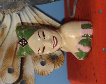 California Pottery Head Vase Carmen Miranda Celebrity