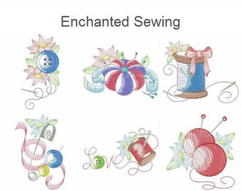 Enchanted Sewing Machine Embroidery Designs Instant Download 4x4 5x5 6x6 hoop 10 designs APE2189