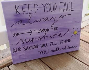 Walt whitman quote on canvas