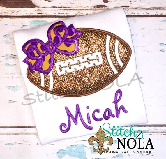 Glitter Football with Bow T-Shirt or Bodysuit