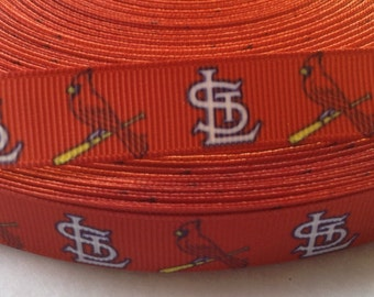 "4 Yards of 5/8"" St. Louis Cardinals Grosgrain Ribbon"