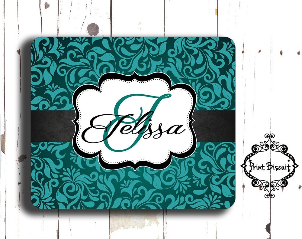 personalized mouse pad teal  u0026 black mouse pad custom mouse