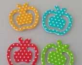 Apple Planner Clips - Set of 4 Polka Dot Bookmark 1 Inch Paperclip - Planner Accessories - Page Clip