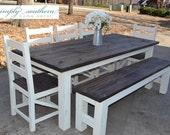 Farmhouse Table w/ Square 4 x 4 Legs (Custom Built)