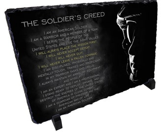 Soldier's Military Creed Stone