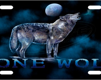 Lone Wolf License Plate Tag