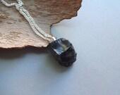 Silver Nobel Elite shungite crystal rock amulet powerful protection mens pendant - mens jewelry - black amulet - protection shungite pendant
