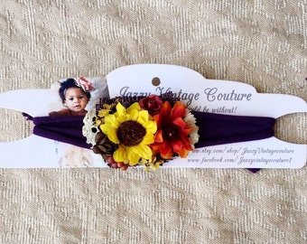 Fall tie back, sunflower, autumn, photo prop