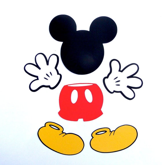 Mickey Mouse Glove Die Cut Disney S Mickey Mouse