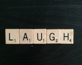 Scrabble Tile Magnet Laugh