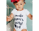 I make Mama's heart full - motherhood, my heart is full, mama, infant, pregnancy, monochrome, kids fashion, modern motherhood