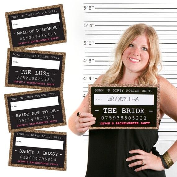 Mug Shot Photo Booth Signs