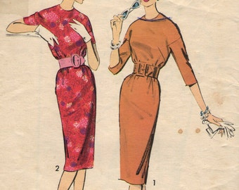 Vintage 1960s Advance Sewing Pattern 9022 - Misses' Dress size 14 bust 34