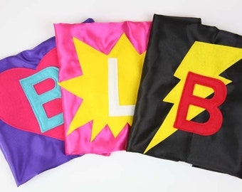 Personalized KIDS SUPER HERO Cape - Super Hero Party Gift -  Quick Shipping - Super Hero Birthday - Super Hero Christmas Gift