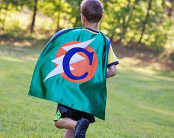 Superhero Cape for Boys . Personalized Kids Cape . Boy Birthday Present  . TODDLER BOY Super Hero Cape.  Free Mask - Ships Quickly