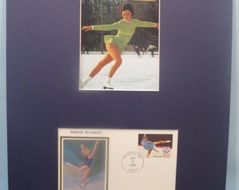 Peggy Fleming wins the 1968 Olympic Gold Medal for figure skating as well as the Olympic Figure Skating First Day Cover