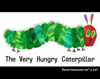 The Very Hungry Caterpillar Fabric Panel By Eric Carle Just In!!