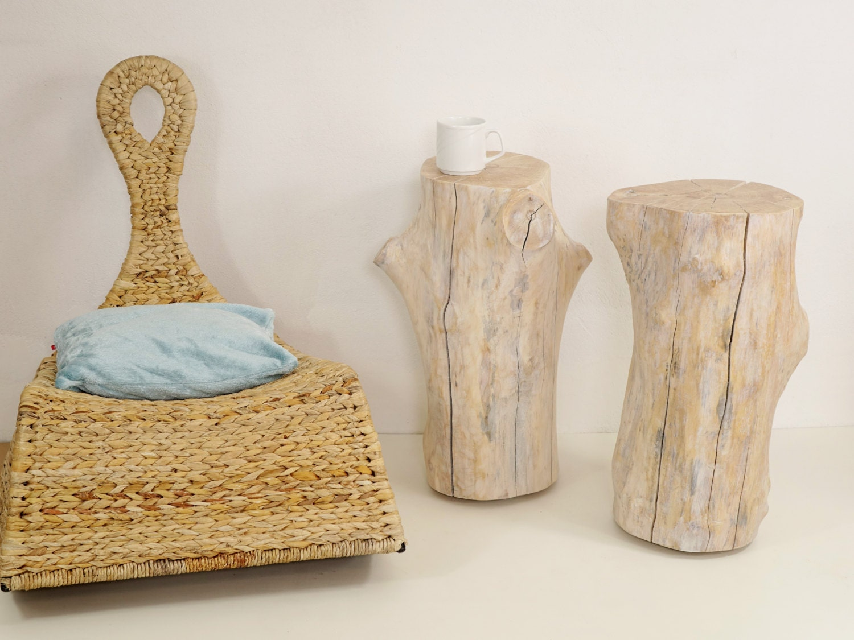 irregular stumps clone tree trunk side table set of 2 tree. Black Bedroom Furniture Sets. Home Design Ideas
