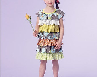 McCall's Sewing Pattern M7179 Children's/Girls' Tiered Ruffle Dresses