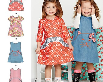 Simplicity Sewing Pattern 1022 Toddlers' Dress