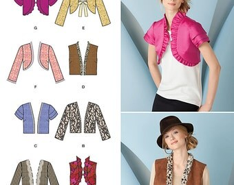 Simplicity Sewing Pattern 1780 Misses' Jackets & Vests