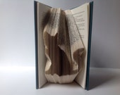 Black Cat Folded Book Art, Folded Pages, Repurposed, Recycled, Upcycled