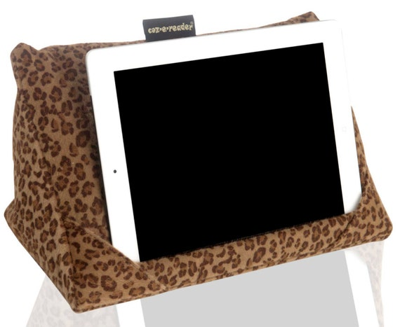 iPad and Tablet stand. Tablet pillow Animal print tablet