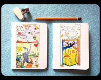 "Notebook ""Twist contre Twist"" FLUORISCILLA (12x15,5cm)"