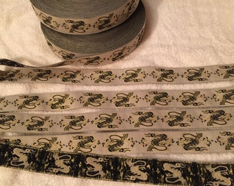 Vintage Woven Jacquard Ribbon. Dragon Jacquard Ribbon.Sold by the Yard. Dragon Trim, Dragon Ribbon.