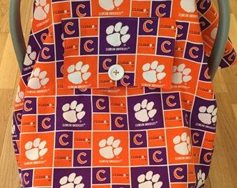 Clemson University Baby Car Seat Cover Canopy