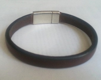 FREE SHIPPING - brown Color Leather Bracelet
