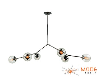 Modern Branching Bubble Chandelier Stainless Steel