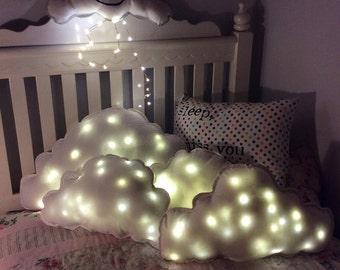 Cloud Pillow  Illuminated Pillow Extra LARGE,Seerducker cloud shaped, cloud shaped cushioncloud plushie/ nursery pillow/ white cloud pillow