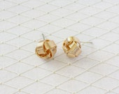 18K Gold Fill Love Knot Stud Earrings Jewelry. Tie the knot Earrings, Bridesmaids Gift, Christmas gift, Holiday Gift